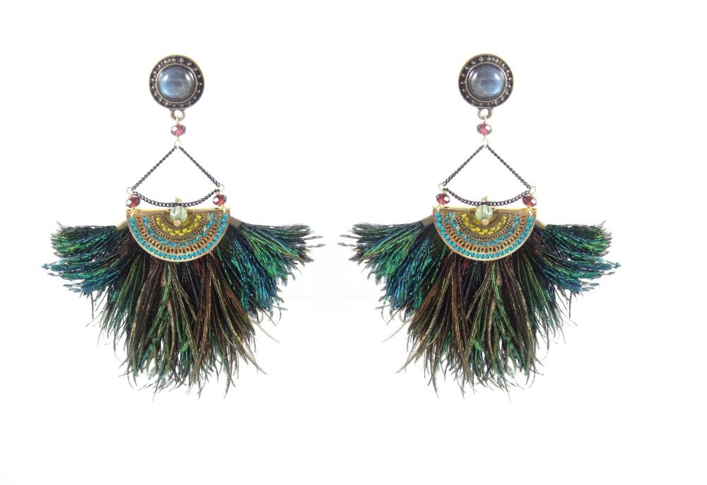 """Boucles d'oreilles Sauvage - Collection """"Atheya"""""""