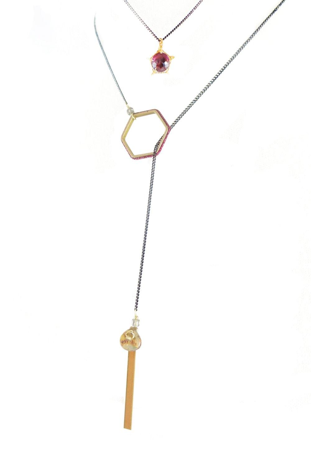 """Bijou de dos / Collier  - Collection """"Hexa"""""""