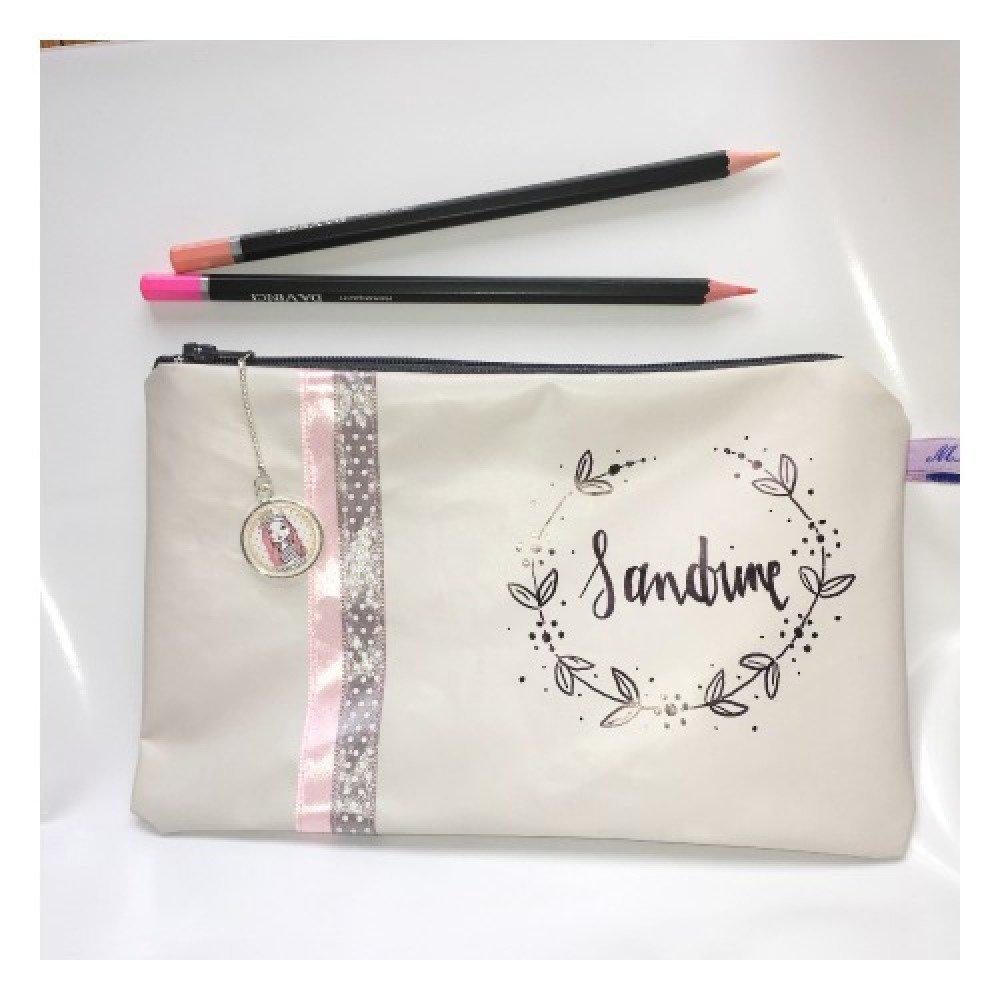 Pochette à maquillage personnalisée, trousse à maquillage, trousse de toilette, trousse à crayons, cadeau personnalisé, cadeau femme