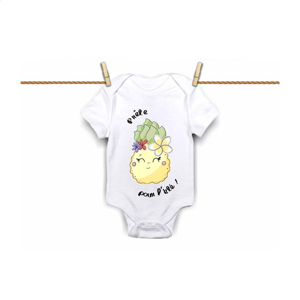 Body personnalisé, cadeau de naissance, cadeau personnalisé, bébé, body bébé, ananas, été, fruit, body fille