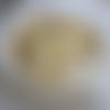 1 perle résine nacré crème 8mm, apprêt, fournitures loisirs créatifs
