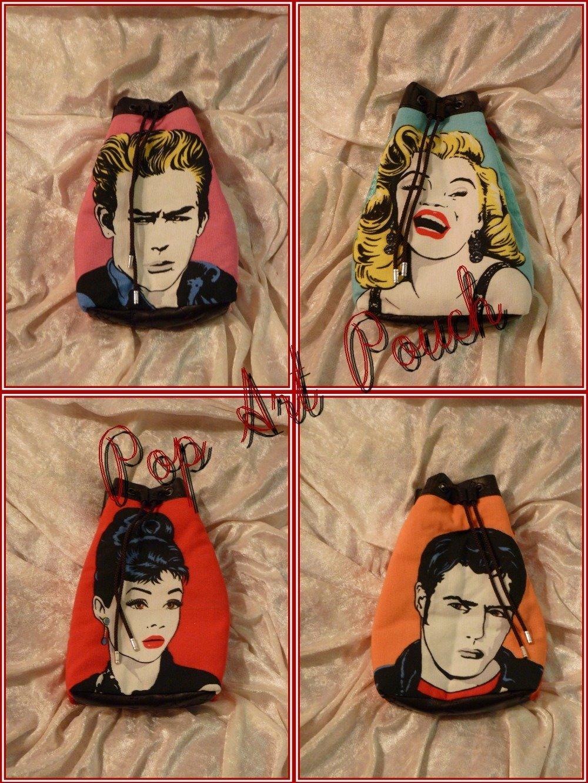 Pop-Art pouch James Dean