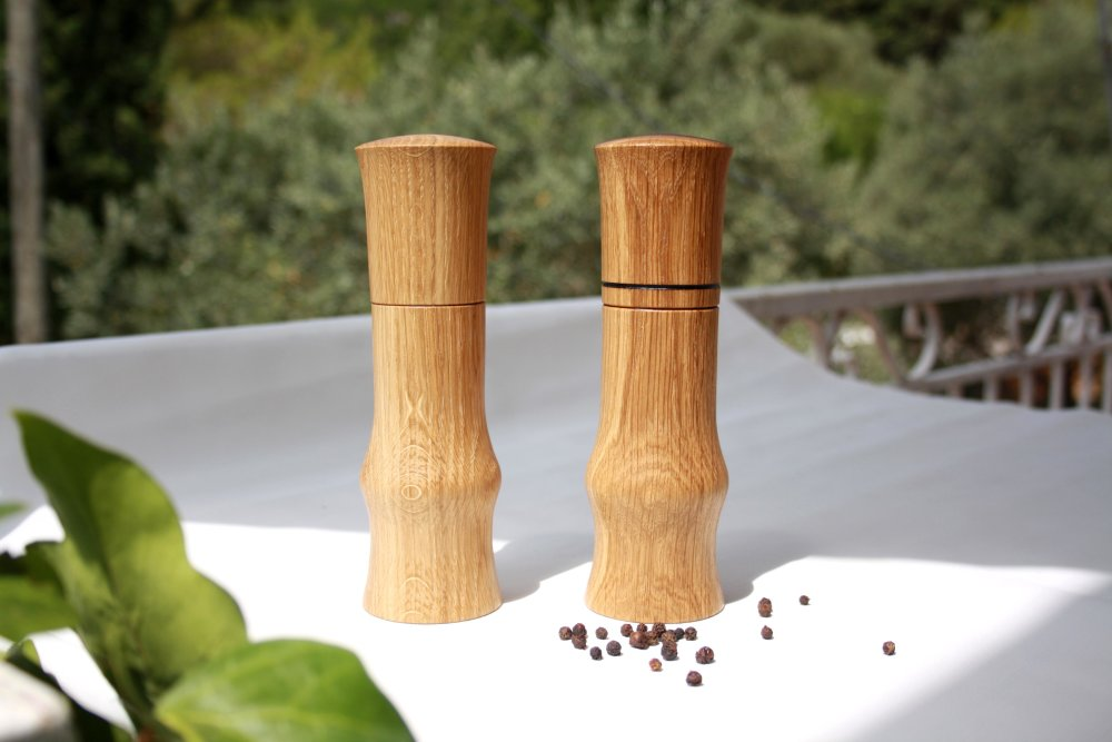 Duo sel/poivre moulins Brondel. Forme traditionnelle