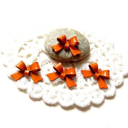 10 noeuds métal orange 16mm