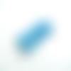 Lot 10 cabochons fleur dahlia bleu ciel 10mm