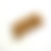 Lot 10 cabochons fleur dahlia marron café 10mm