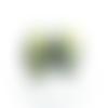 2 camé cabochon noir écru jaune 18x25mm