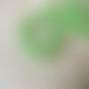 20 perles rondelles facette verre vert 6x4mm