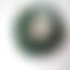 20 perles rondelle cristal facetté 8x6mm vert salicorne