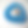 10 perles rondelle cristal facetté 8x6mm turquoise irisé