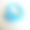 20 perles rondelle cristal facetté 8x6mm bleu glacial