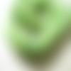 10 perles bois coco rondelle vert pomme 20mm
