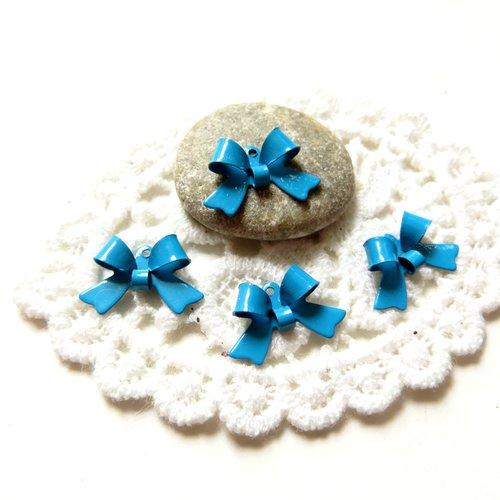 10 noeuds métal bleu 16mm