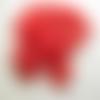 20 perles fleur étoile lucite rouge 17mm