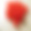 Lot 20 perles lucite muguet rouge 9mm