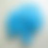 20 perles fleur étoile lucite bleu turquoise 17mm