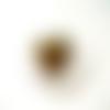 1 pendentif porte-photo bronze coeur 28mm