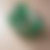10 perles tubes enroulée doré vert émeraude 15mm