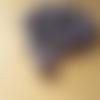 10 perles verre indien rondelles motif pois mauve 8 x 12 mm