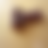 10 perles verre indien rondelles motif pois marron 8 x 12 mm