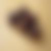20 perles rondes marron pois orange 10mm