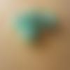 10 perles verre indien rondelles motif pois vert 8 x 12 mm