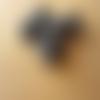10 perles verre indien rondelles motif pois noir 8 x 12 mm