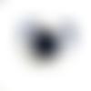 1 support bleu nuit pour cabochon 20mm