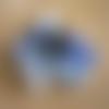 20 perles verre ronde 8mm mix bleu montana