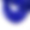 20 perles rondelles facette verre bleu nuit 8x6mm