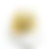 2 pendentifs filigrane goutte métal doré 48x32mm