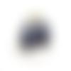 2 camé cabochon violet 18x25mm