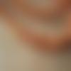 20 perles coquillage orange 5x7mm