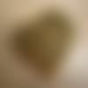 1 grand pendentif coeur or vieilli 40x43mm