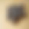 10 perles verre indien rondelles motif pois gris 8 x 12 mm