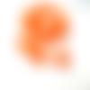 10 perles tchèque fleur trompette orange vif 6x9mm