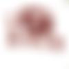 10 perles tchèque fleur trompette rouge brique 6x9mm