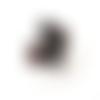 4 perles bohèmes tchèque carrée spongy ambre 10mm
