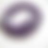 Lot 10 perles rondes améthyste violet 4mm