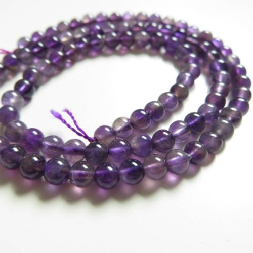 Lot 10 perles rondes améthyste violet 5mm