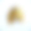 4 pendentifs filigrane plume métal doré 50x26mm