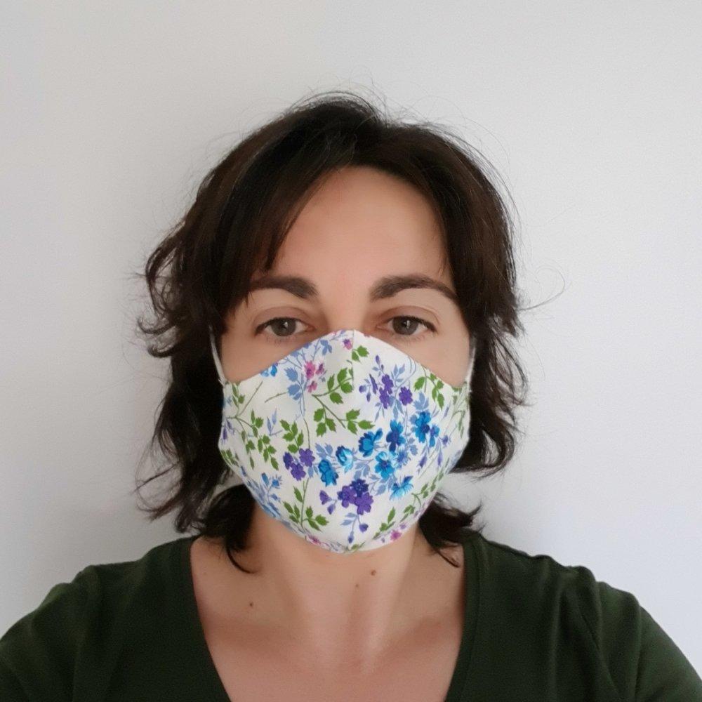 Masque en tissu en forme, avec élastiques