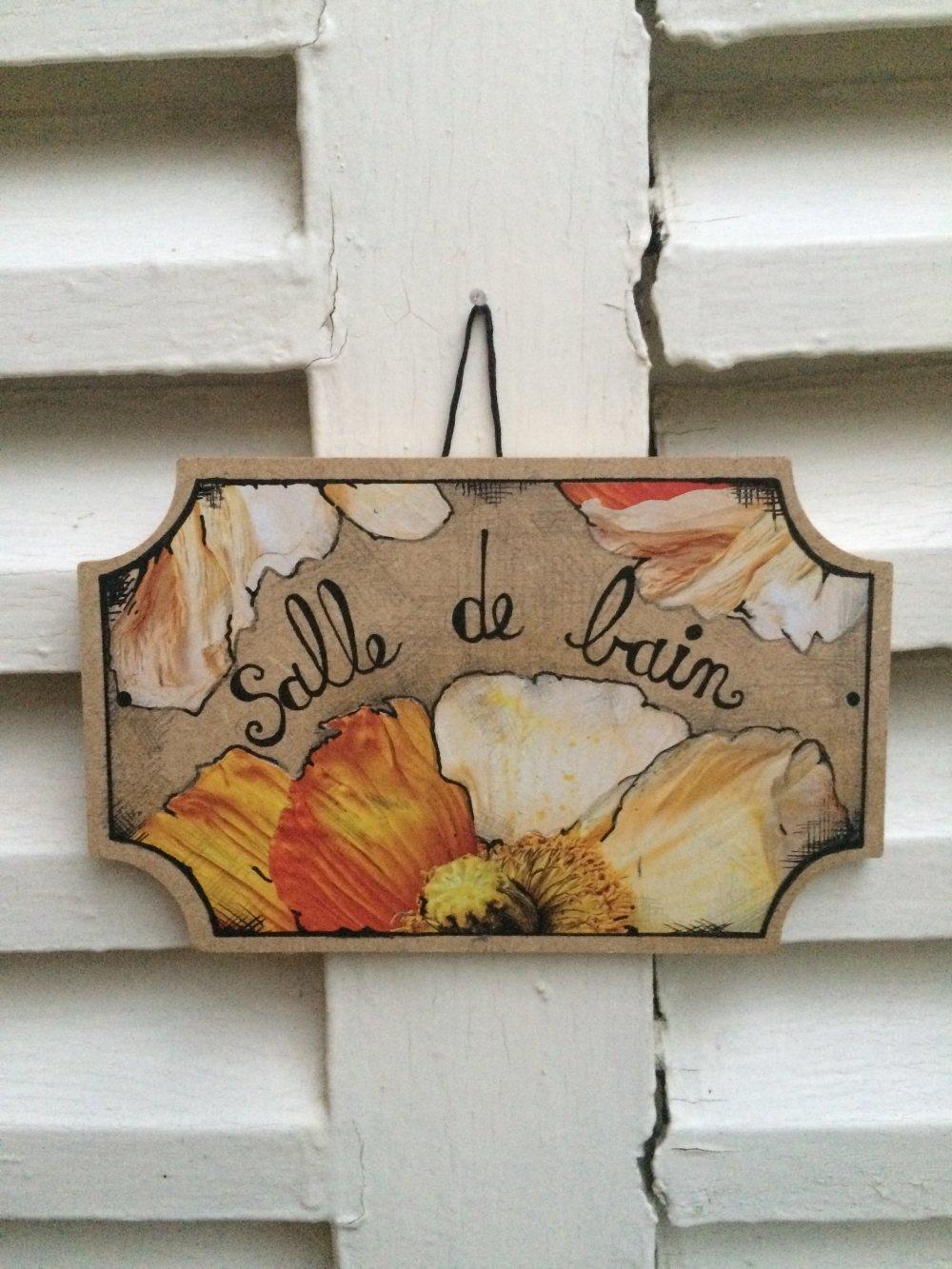 Salle De Bain Plaque plaque de porte salle de bain