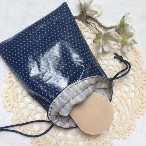 Pochette imperméable pour savon ou shampooing solide