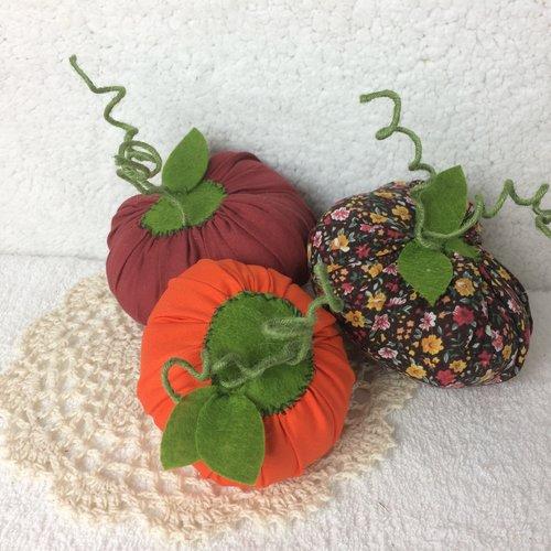 Citrouilles décoratives tissu