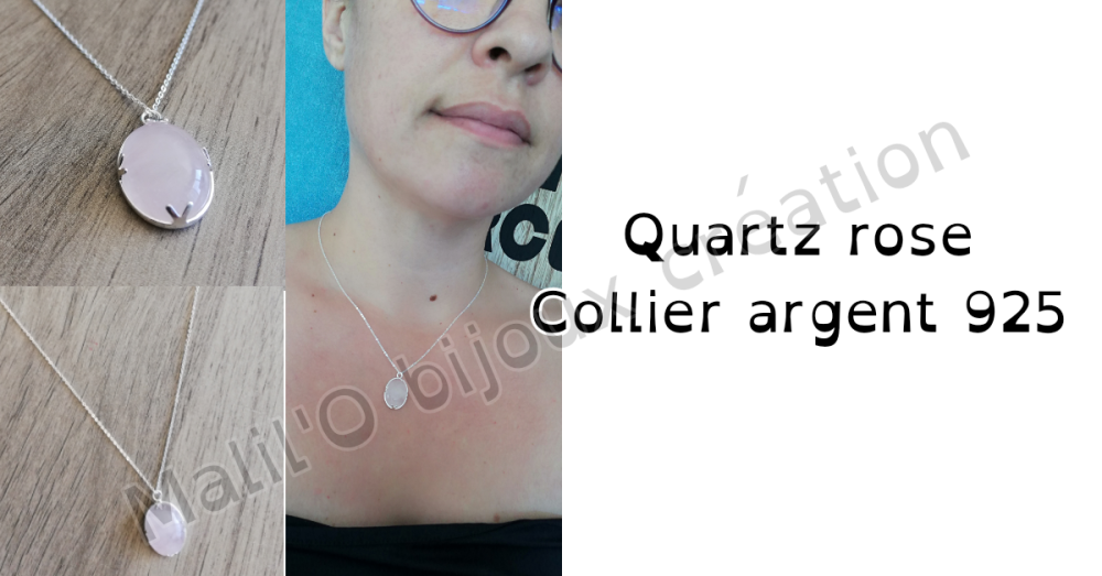 Collier Quartz rose