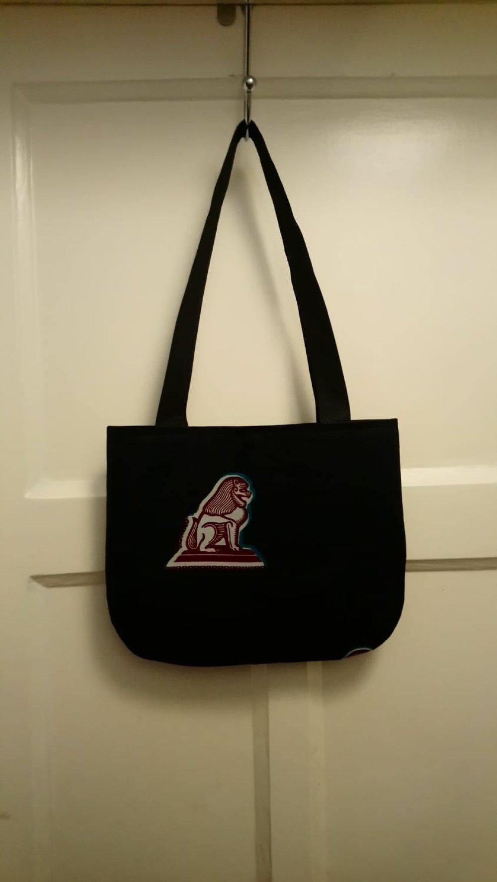 Joli sac doublé en Wax - Tote bag  30.5 x 24.5 cm