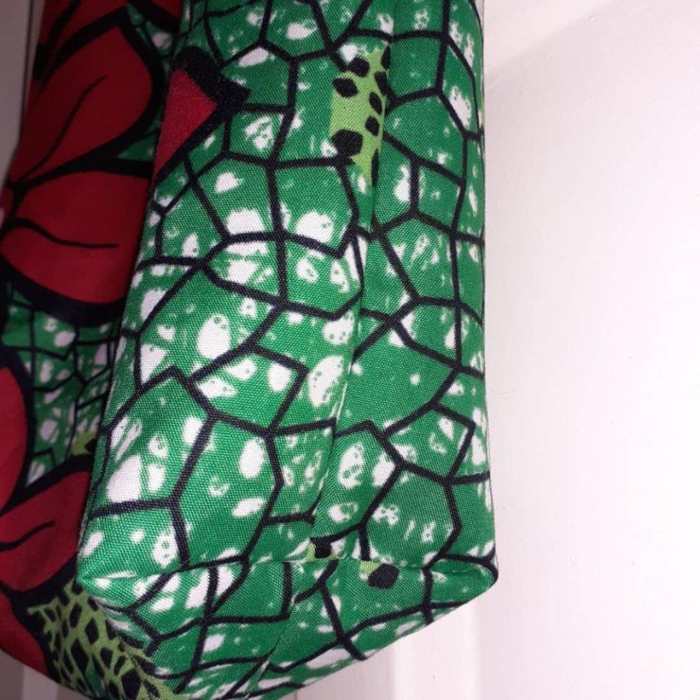 Joli sac 2en1 réversible en Wax - Tote bag 30 x 36 cm