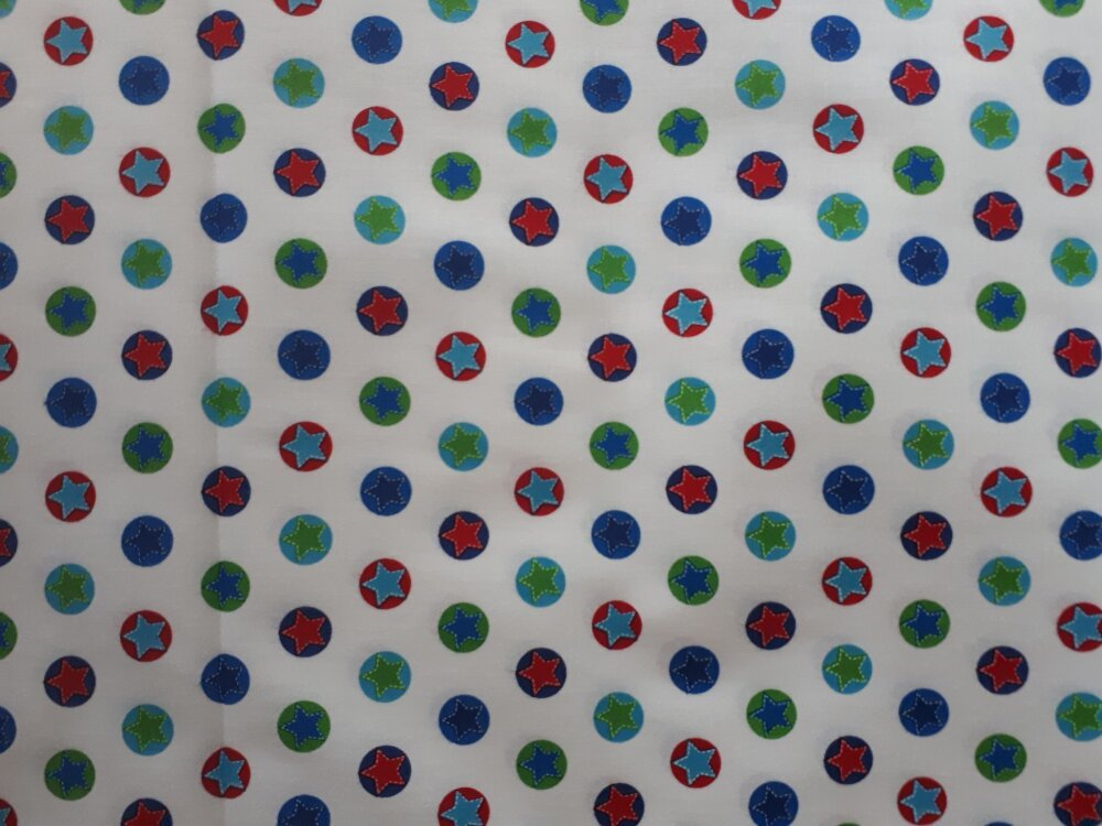 TISSU PATCHWORK  - ETOILES - coupon 45 x 55 cm