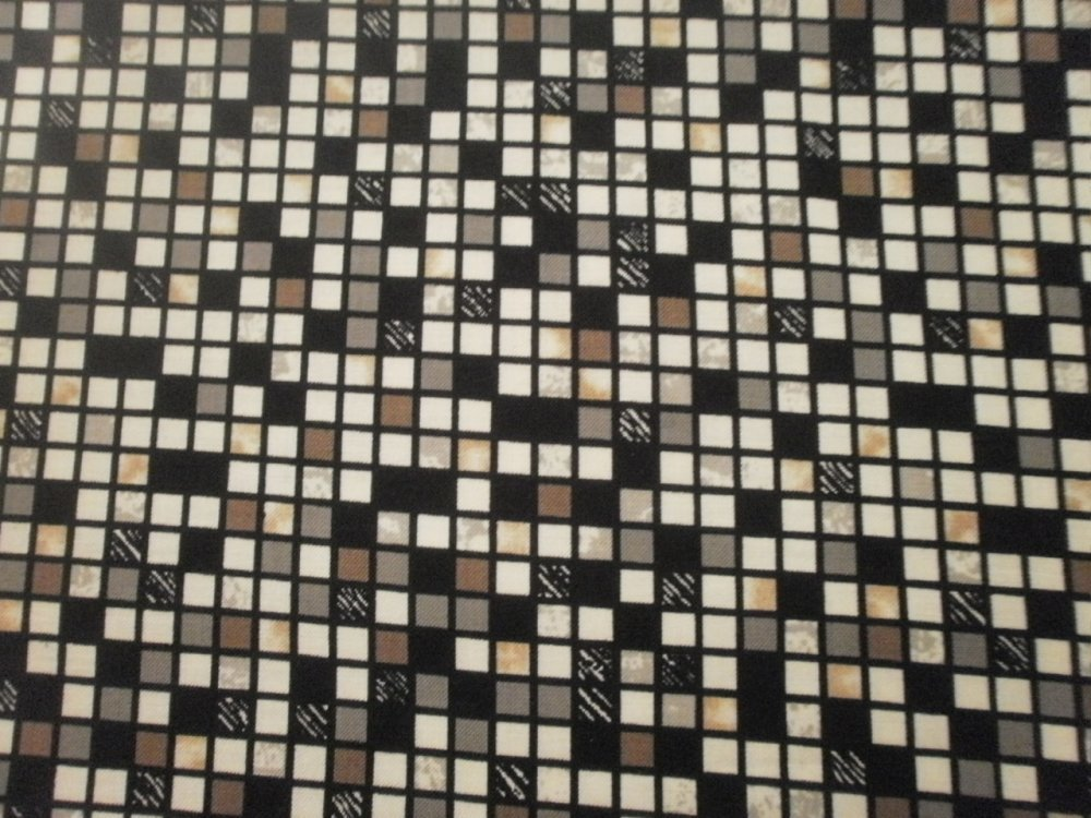 TISSU PATCHWORK - PETITS CARRES - DOWNTOWN -  coupon 45 x 55 cm